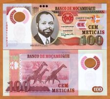 Mozambique, 100 Meticais 2017, P-151b, POLYMER, New Date and Sig. UNC > Giraffe