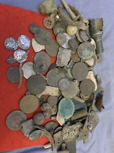 metal detecting finds job lot, Coins Silver Hammered, Medieval, Nice Mixed Lot 3