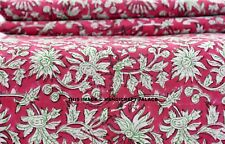 Indian Block Printed Cotton Fabric Natural Dyes Handmade Sanganeri Fabric 5 Yard