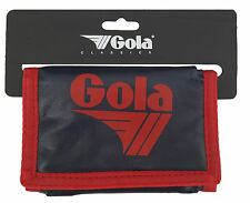 MENS / BOYS GOLA CLASSIC NYLON WALLET WITH ZIP COIN POCKET - NAVY / RED