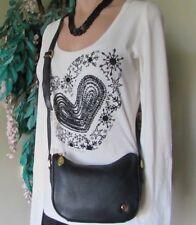 ETIENNE AIGNER.Black.100%Genuine Leather Crossbody shoulder bag.Purse Small.EUC
