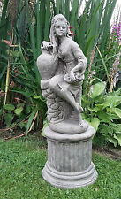Stone Garden Lady With Urn Statue Ornament