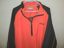 Ping Golf Mens Black Red 1/2 Zipper Pullover Wind Sweater SZ L VGC Quick Shipped
