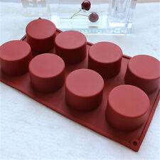 Chocolate Cup Cake Cookie Cutter Cylinder Mould Baking Silicone Bakeware Mold