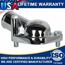 SBC BBC Chrome Water Neck Thermostat Housing Outlet Fits Chevy 45 Degr V8 V6 New
