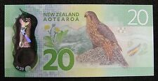 New Zealand Polymer Plastic Banknote 20 Dollars 2016 UNC