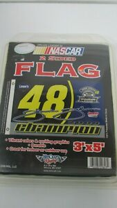 Jimmie Johnson # 48 Lowe's 2006 CHAMPION Double Sided 3 x 5 Flag