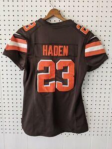 Nike NFL Cleveland Browns On Field Women Football Jersey Haden 23 Brown/Orange S