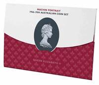 1966-1984 QUEEN ELIZABETH ARNOLD MACHIN PORTRAIT 7 COIN Collection Mint Set