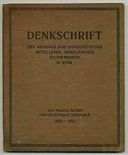 Cover title Denkschrift des Vereines zur Unterstützung mittelloser
