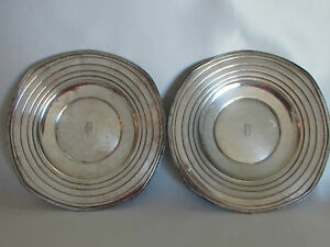 Plates Mode Wallace Trays Silver Plates Monogram Dish Platter Elegant Very OLD