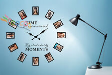 Wall Decal Sticker Tree Removable Family Photo Frames Clock With Quote DC0120B