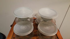 TUPPERWARE  Ice Cream Sundae Bowls with Seals - Set of 6 Great!