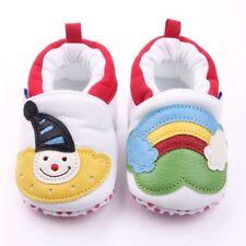 Baby Stoff Hausschuhe 9-12 Monate Krabbelschuhe NEU Clown Gr. 19