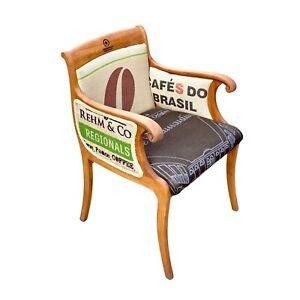Stuhl Sessel Vintage chair Möbel Sitzmöbel Kaffeesäcken