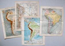 Südamerika Sammlung, Landkarten - 9 Karten 1884-1905