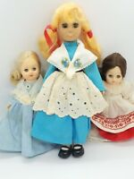 Vintage Collectible Dolls Lot of 3 Sleepy Eyes Plastic Toy Baby Pretend Play