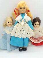 Vintage Collectible Dolls Sleepy Eyes Plastic Body Lot of 3