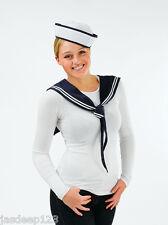 MATELOT Kit chapeau et écharpe femmes Déguisement Costume Sexy Marine instantané