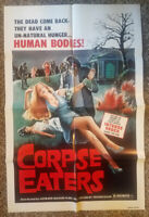 CORPSE EATERS Original Movie Poster 1974 One Sheet 27x41 Horror Folded