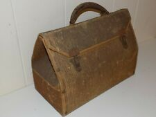 Vintage Doctor Bag Satchel With Clasps