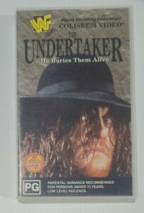 The Undertaker He Buries Them Alive VHS Video WWE WWF Rare 1995 Coliseum Video