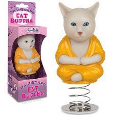 CAT BUDDHA DASHBOARD DANCER Kitty Monk Nodder Bobblehead Inner Peace Funny Joke