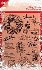 Joy Craft  - Clear  Stamp - MERRY CHRISTMAS - 6410/0114 Reduced  *