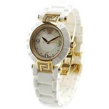 Versace Stainless Steel Case Round Wristwatches