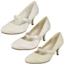 Scarpe da donna slim tessile con tacco medio (3,9-7 cm)