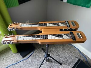 Morrell Doubleneck 6 & 8 string lap steel guitar MADE IN USA - 3 octave board