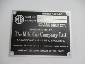 Nameplate MG Mga MG A Car Company
