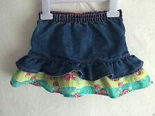 Denim Floral Skirts (0-24 Months) for Girls