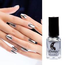 6ml Metallic Mirror Nail Polish Silver Magic Effect Chrome Varnish Manicure DIY