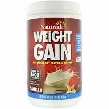 Naturade Weight Gain Vanilla 40 6 oz 2 5 lb Gluten-Free, No Artificial Colors,