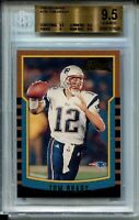 2000 Bowman Football #236 Tom Brady Rookie Card RC Graded BGS Gem Mint 9.5