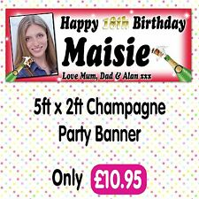 PERSONALISED PHOTO BIRTHDAY PARTY BANNERS ANY AGE, ANY NAME,ANY EVENT A010