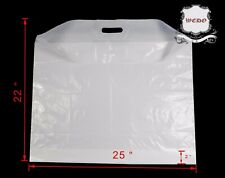 """Extra Large22""""/25""""/29"""" Strong White Patch Handle Plastic Carrier Bags UK product"""