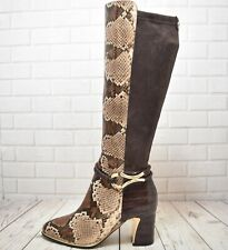 Womens Moda in Pelle Brown Reptile Print Leather Boots UK 5 EUR 38 RRP £218