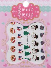 Nail Art Stickers Autocollants Ongles Déco Scrapbooking Cadeaux Sapins Nounours