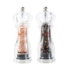 Salt and Pepper Mill Set, Contemporary Kitchen Condiment Grinders, Ceramic Grind