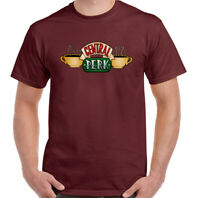 Central Perks Mens Friends Inspired Coffee Shop Logo T-Shirt American Sitcom Top