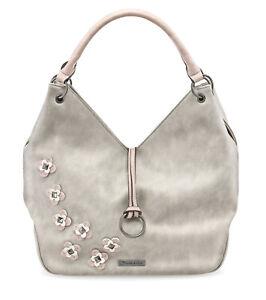 Sale TAMARIS Damen Handtasche LUNA Shoulder Bag grau NEU ehemaliger UVP 69,95€