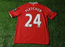 MANCHESTER UNITED 24 FLETCHER 2011/2012 FOOTBALL SHIRT JERSEY HOME NIKE ORIGINAL