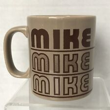 Personalized Name Mike Ceramic Coffee Mug Cup Vtg 80s Kiln Craft Staffordshire