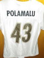 Women NFL TEAM APPAREL PITTSBURGH STEELERS #43 TROY POLAMALU JERSEY M Rhinestone
