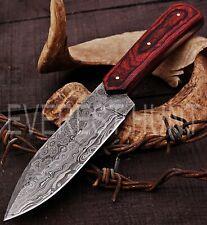 EVEREST HUNT CUSTOM HANDMADE DAMASCUS STEEL HUNTING CAMP SKINNER KNIFE B5-1688