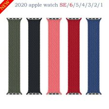 Strap For Apple watch series 6 se 5 4 3 Braided Solo Loop Elastic belt bracelet