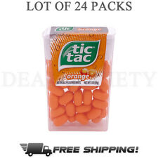 Tic Tac Orange Flavored Mint Candies TicTac - Lot of 24 Boxes, 1 oz each