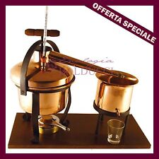 Alambicco distillatore 5 Lt in rame per grappa brandy